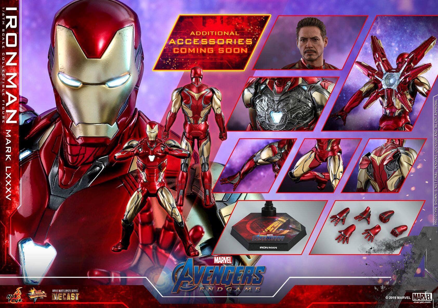 Tacho-Iron Man Mark LXXXV /& Rescue Marvel Los Vengadores Hot Toys Cosbaby